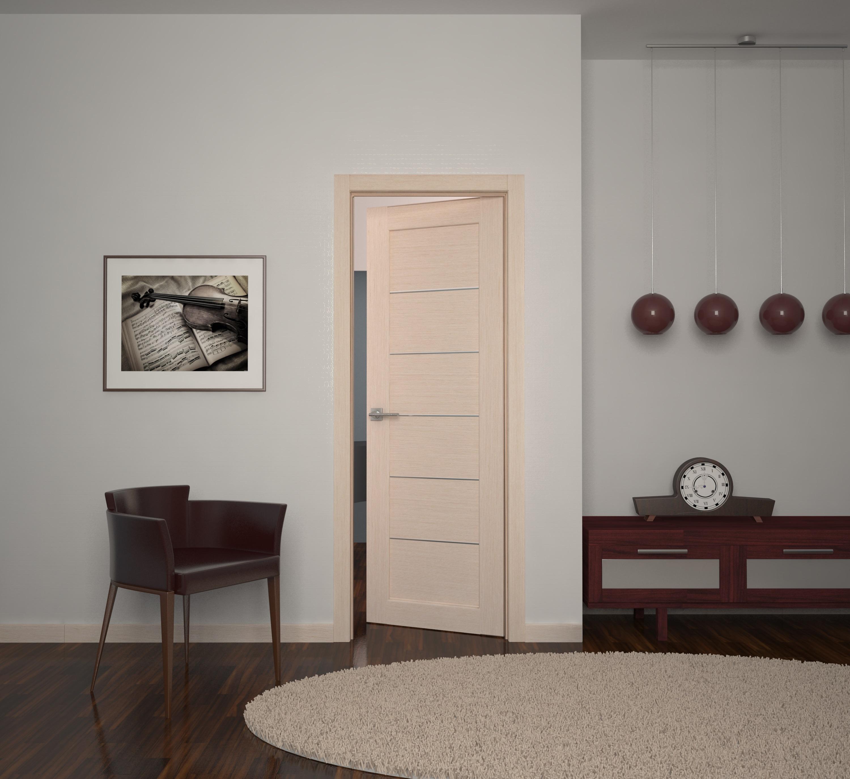 Беленый дуб дверь в интерьере